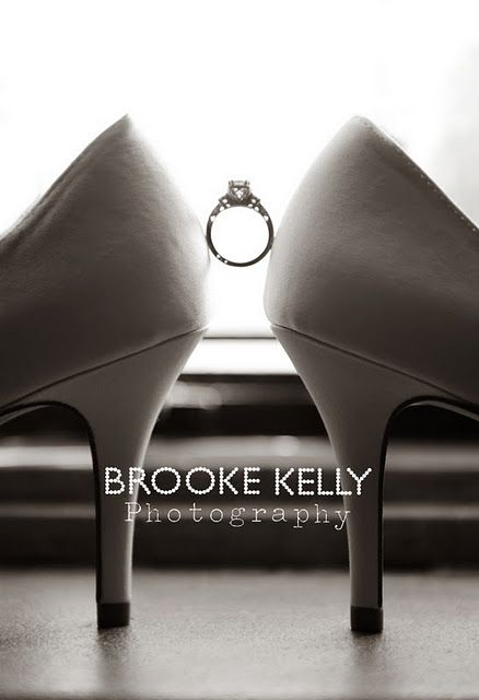 Really unique wedding picture #wedding #rings #shoes