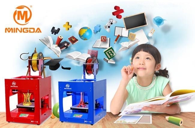 Mingda Small Size 3d Printer For Kids Students School Education Etc More Details Pls Contact With Me 3d Printing Business 3d Printer 3d Printing Machine