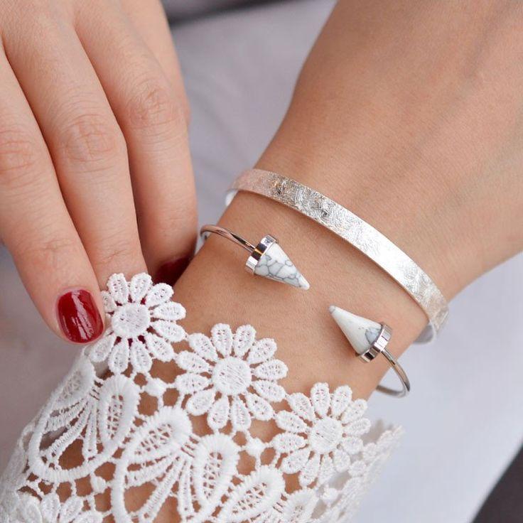Bracelet Jonc Empire Argent – Majolie - Des bijoux prêts à offrir!