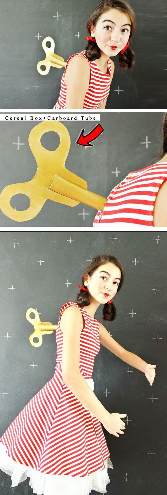 Wind-Up Doll | 30+ DIY Halloween Costumes for Women #halloweencostumesforwomen