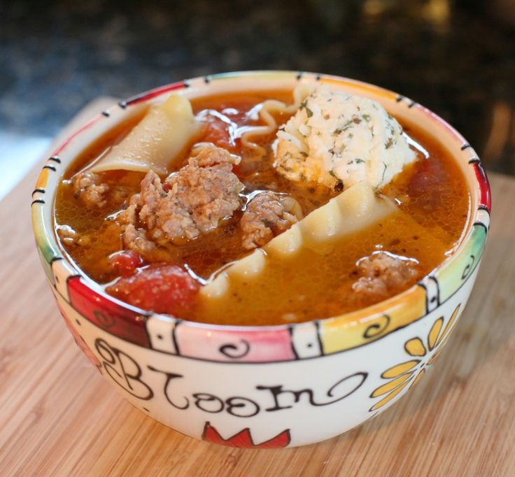 Electric Pressure Cooker DECONSTRUCTED LASAGNA SOUP: In the pot, brown 2 lbs Sausage or any ground meat & 2Tbsp Italian Season. Add 3 cloves Garlic, 1 Onion, 32oz can Tomato, 8oz Tomato Paste, 4cups Chicken Broth. Program to 10 min cook time. Release pressure, open lid  1-2 cups dry broken Lasagna Noodles. Program 1 min more, release pressure & add cheese balls made of Shredded Mozzarella, Ricotta