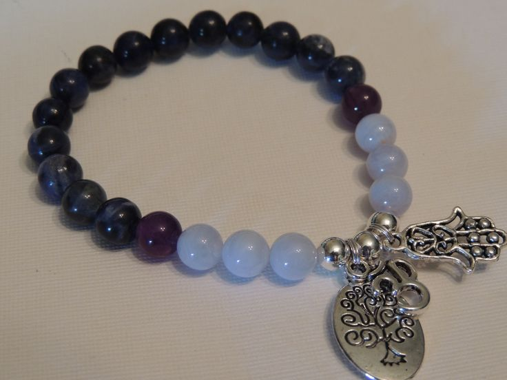 Blue Lace Agate, Amethyst and Sodalite Gemstone-Super calming stones https://www.etsy.com/shop/AnneGaleJewels?ref=hdr_shop_menu