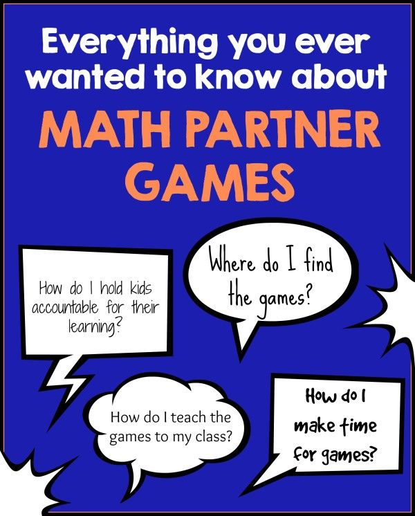How to use math partner games instead of math centers   This comprehensive guide is filled with tips on what, when, and how to use math partner games in place of math centers.