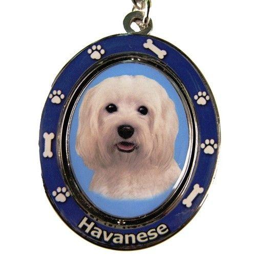 Havanese Dog Spinning Keychain