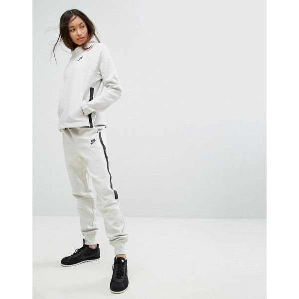 Nike Tech Fleece Sweat Pants (£70) ❤ liked on Polyvore featuring activewear, activewear pants, cream, fitted sweatpants, tall sweat pants, nike sweatpants, nike sportswear and tech fleece sweatpants