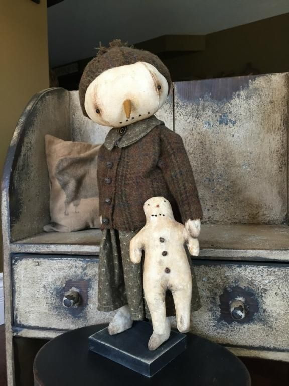CHARITY, Standing Snowgirl   Primitive Handmades Mercantile