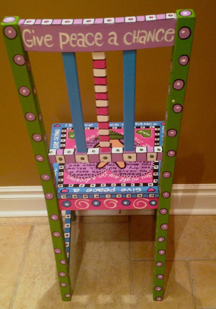 Adult size chairs - Alice Hinther Designs Art Cards(back of chair)