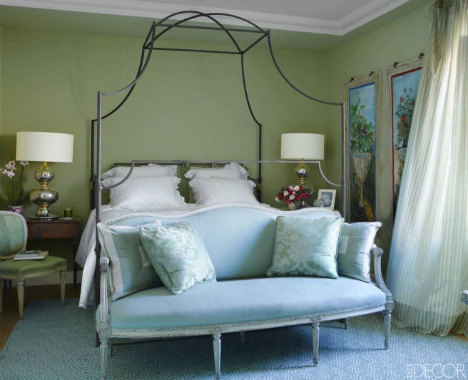 375 best decorating with green images on pinterest for Elle decor beds