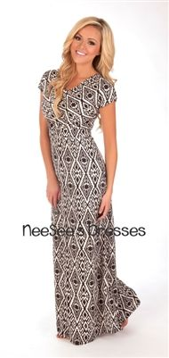 Melinda Aztec Maxi Modest Dress | Mikarose Spring 2014 Collection | Trendy Modest Dresses and Clothes