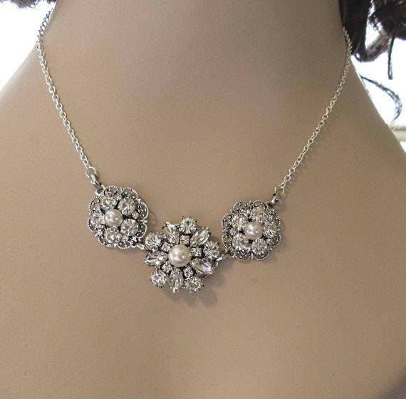 Bridesmaids statement necklace bridesmaids by MissJoansBridal