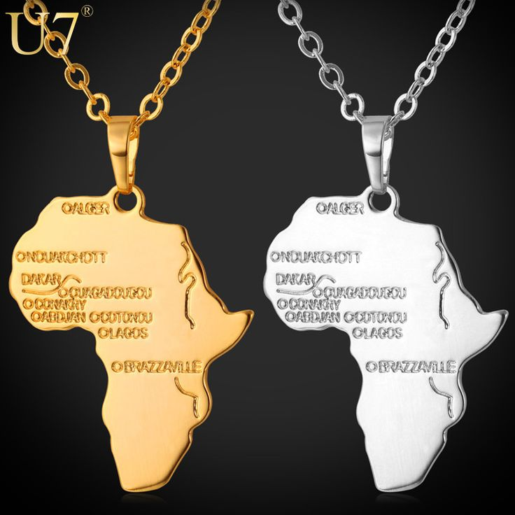 Africa Map Horn Of Africa%0A Africa Pendant      New Real Gold Plated Unisex Women Men Fashion African  Map Pendant Necklace Hiphop Jewelry