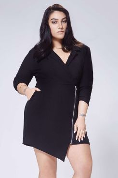 Plus Nadia Tuxedo Dress