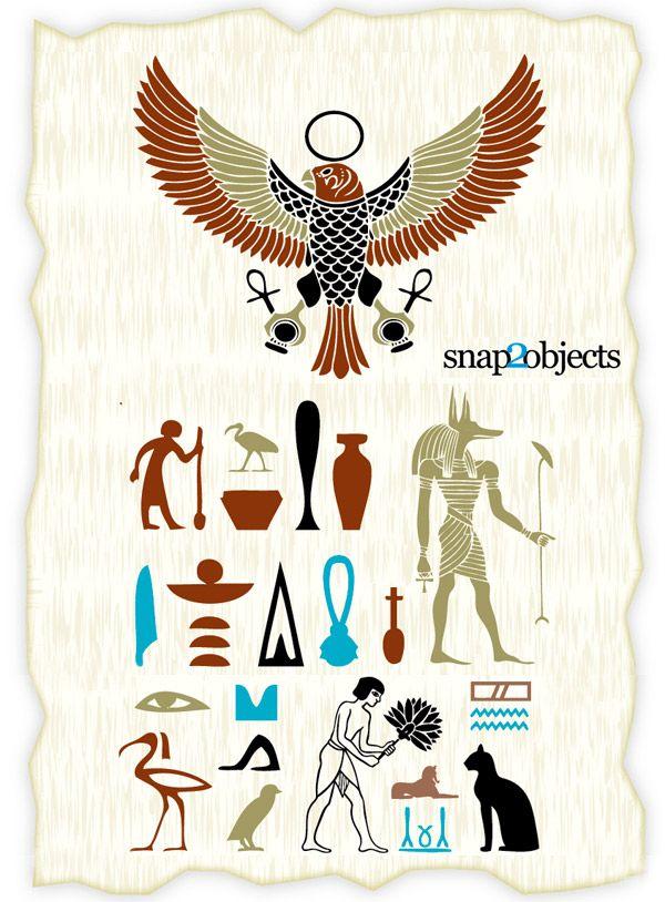 Egyptian Flower Tattoo Design