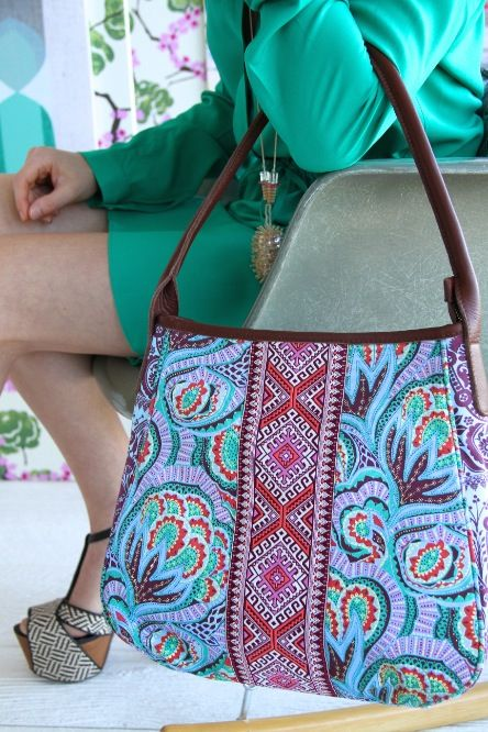 Amy Butler's Muriel Fashion Bag, part of the Hapi Sunrise collection from Kalencom.