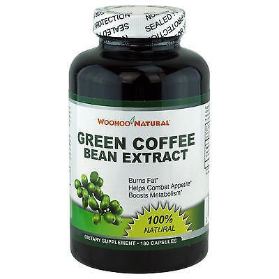 100% Pure Natural Green Coffee Bean Extract Weight Loss Diet Pills 180 Caps .. USD 9.99