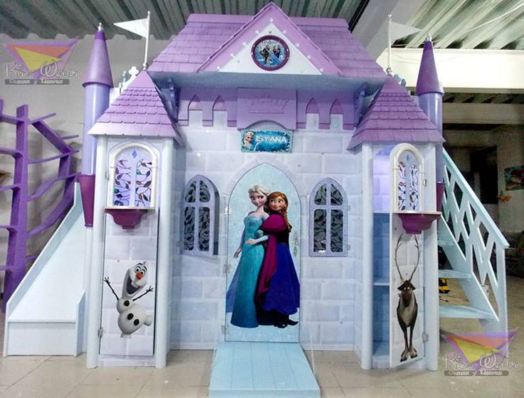 Espectacular castillo de Frozen (de camas y literas infantiles kids world)