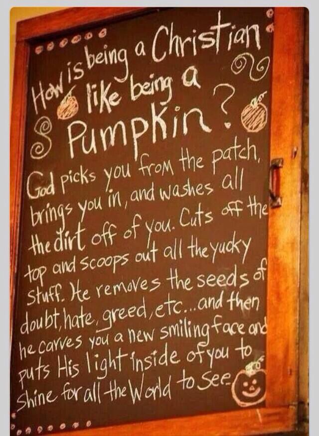 How being a Christian is like a pumpkin
