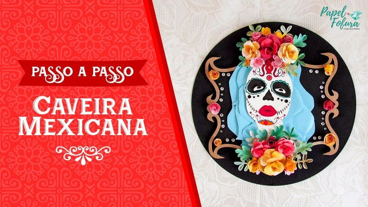 PAP - Caveira Mexicana para o Halloween! 💀🎃  Disco de vinil decorado para enfeitar a sua casa no dia do Halloween ou em festas temáticas!  https://youtu.be/LGFH5IgfLj0  #halloween #halloween2017 #halloweenparty #halloweendecor #halloweendecorations #caveiramexicana #mexicanskulls #lacatrina #DíadelosMuertos #diadasbruxas #papelfofura #paperaddict #silhouettebrasil #silhouettecameo #calaveramecicana #tutorialhalloween #liagriffith #paperdecor #paperflower #decoraçãohalloween #passoapasso