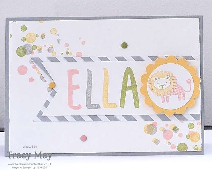Stampin' Up! Zoo Babies paper pieced lion Independent Demonstrator card making ideas