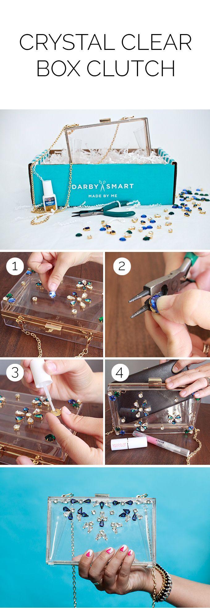 Swarovski Embellished Box Clutch   Great Holiday Gift by Darby Smart