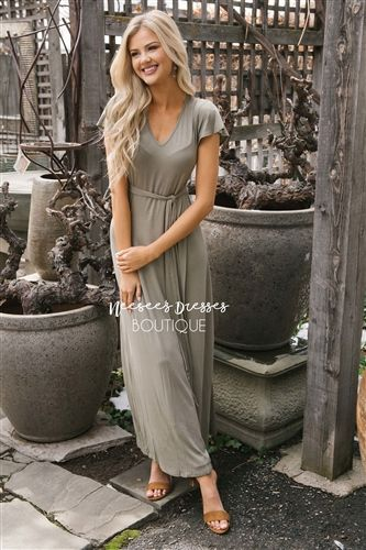 072a96b0cb85 Sage Flutter Sleeve Modest Maxi Dress, Modest Dress, Church Dresses, dresses  for church, modest bridesmaids dresses, best modest boutique, modest clothes,  ...