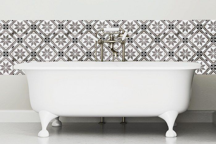 12 best images about sol wc et buanderie on pinterest - Pose dalle pvc adhesive ...