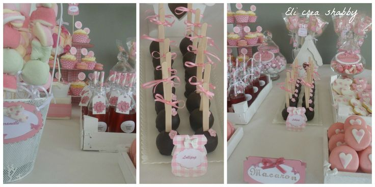 sweet table battesimo http://elicreashabby.blogspot.it/