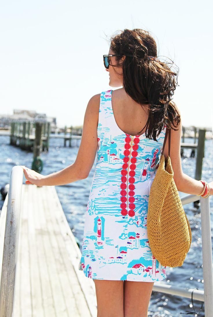 Style Inspiration   Lilly Pulitzer Delia Shift Dress in Watch Out worn by @Sarah Chintomby Chintomby Vickers