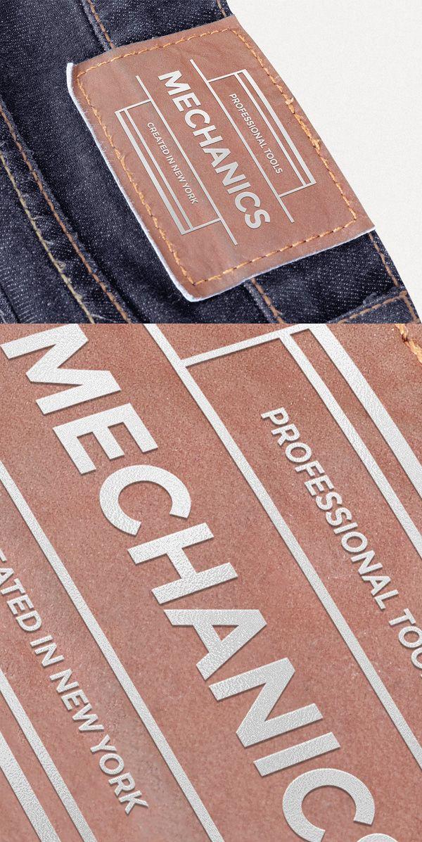 Leather Patch Mockup Leather Patches Mockup Leather
