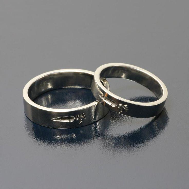 Vegan rings ;) palladium wedding rings by Andrzej Bielak  www.inneobraczki.pl  zapraszamy po wyjątkowe realizacje