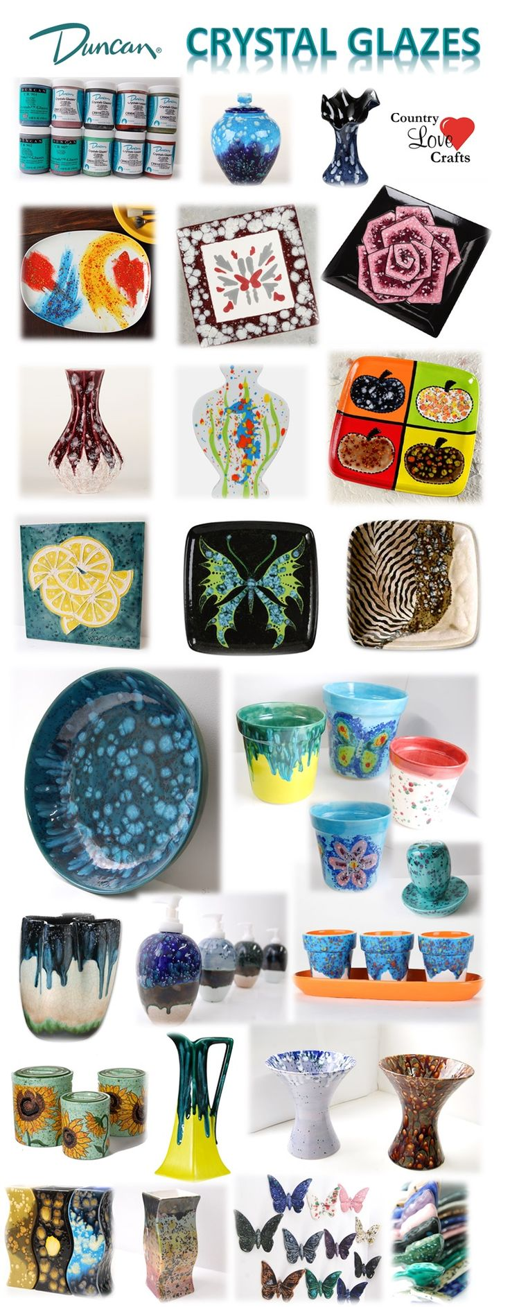 1000 images about crystal glazes on pinterest ceramic for Bisque ceramic craft stores