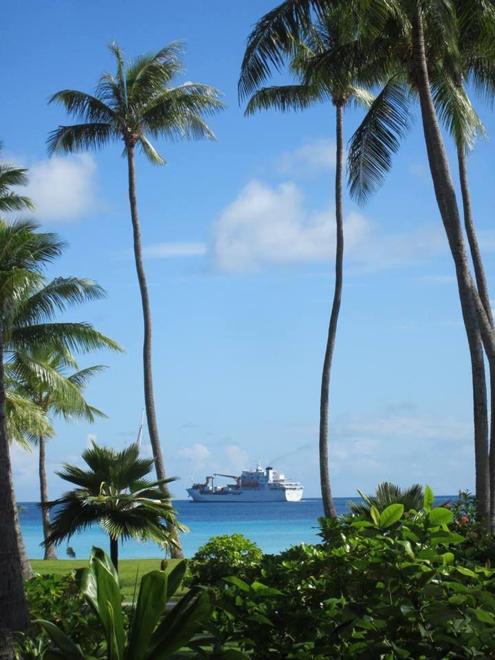 This is the freighter Annie travelled on to get to #Rangiroa, ghetto Aranui 3. Amazing trip! — at Rangiroa, French Polynesia. #Tahiti