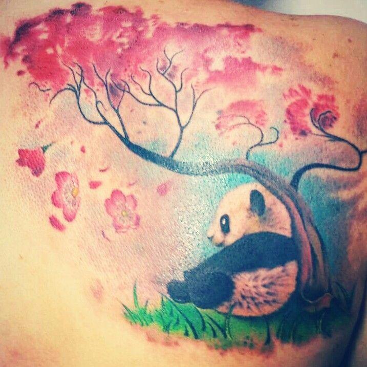 My Sakura Tree with baby Panda tatto ♥♥