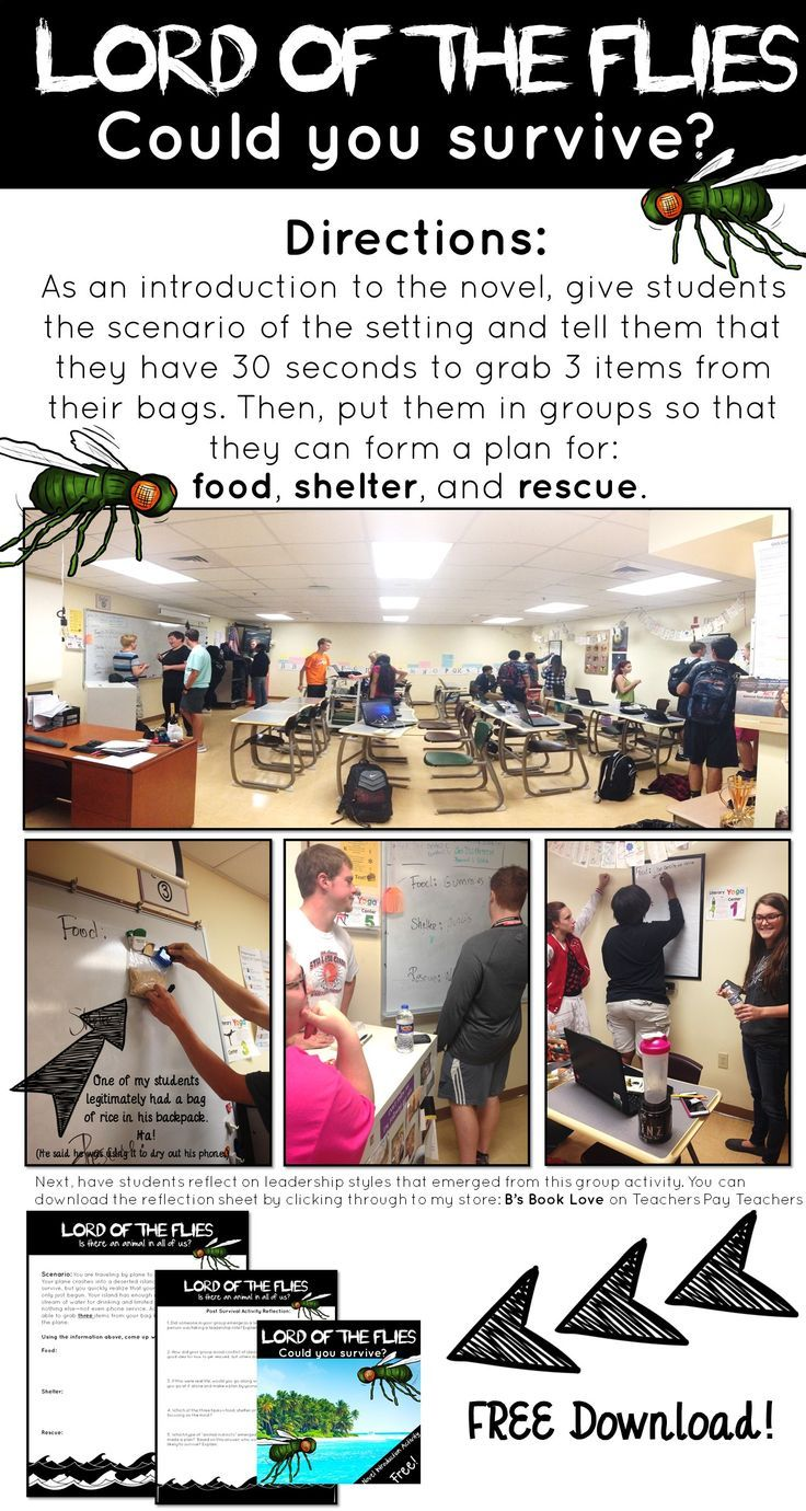 Lord of the Flies Introduction activity for chapter 1! A hands-on way to introduce the novel Lord of the Flies.
