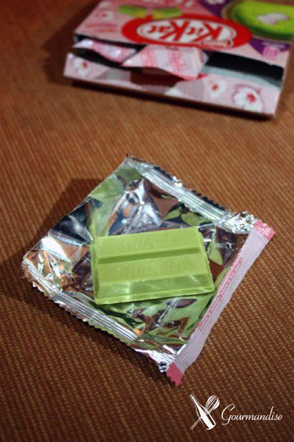sakura matcha KitKat (cherry flower and green tea)
