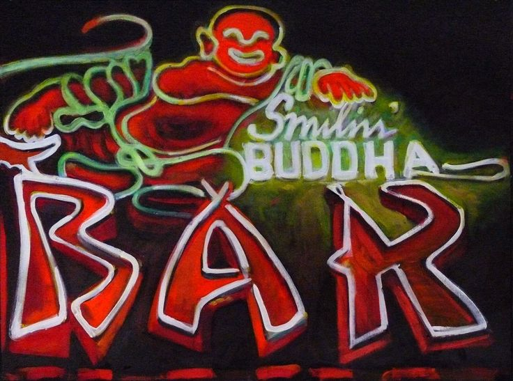 BUDDHA BAR II, acrylic on canvas, 2010, SOLD #art #arte #artists #artwork #finart #popart #painting #tiko #kerr #tikokerr