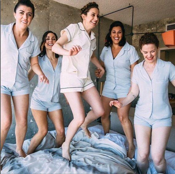 Bridesmaid gift Bridesmaid pjs , Bridesmaid PJ sets, Bridesmaid Pajama set, bridesmaid pyjamas -Cust