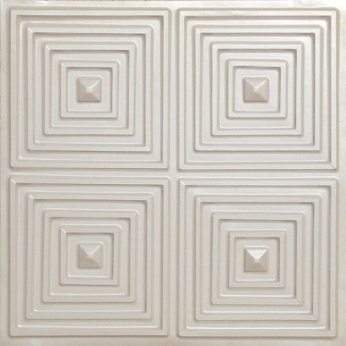 """2 x 2 Ceiling Tile #125 Tin White Pearl,cheap Modern Plastic Ul Rated Can Be Glue on Any Flat Surfase by ceiling tile,suspended ceiling,drop ceiling,grid tile. $7.99. Faux antique pvc white ceiling tile Complements our decorative ceiling tiles, afordable,washable!. Instantly transform the look of your home,Green,eco-friendly,recyclable.Modern tile!Drop ceiling panels.discount ceiling tiles.. Faux Pearl White Plastic Ceiling tile 24""""x24"""" With Overlaping Edges Ul Rated.Wat..."""
