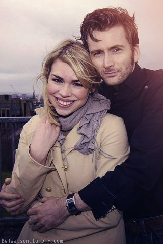 David Tennant and Billie Piper. they could not look more like a real couple if they tried! I love it!