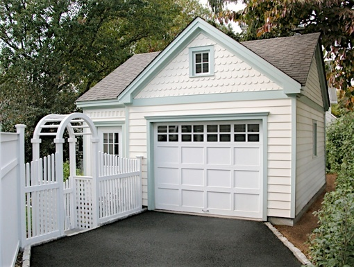 So cute!  Little garage with attached granny flat.