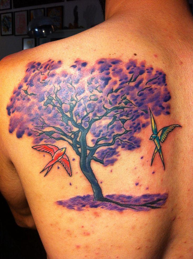 Small Jacaranda Tattoo: Arbol Jacaranda