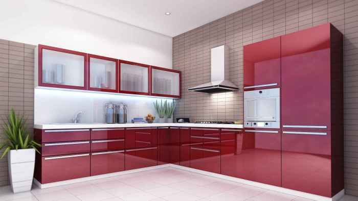 small u-shaped glossy acrylic laminate kitchen cabinets - Yahoo - küchenideen kleine küche