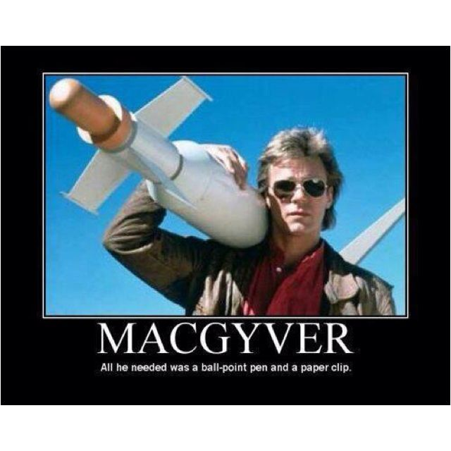 MacGyver Lol...I was addicted to this growing up! Love a bit of cheese :)