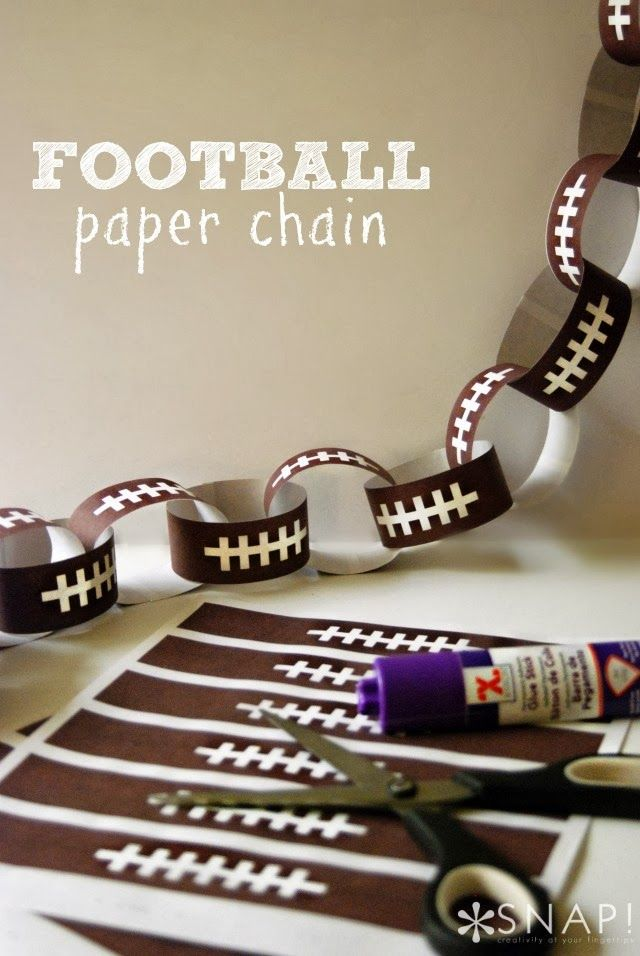 Football paper chain! Get ready for some Football! Party ideas and inspiration