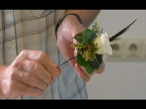 Instruction video - Wired corsage: Securing the metal disc for a magnet - YouTube