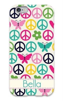 Peace sign custom cell phone case