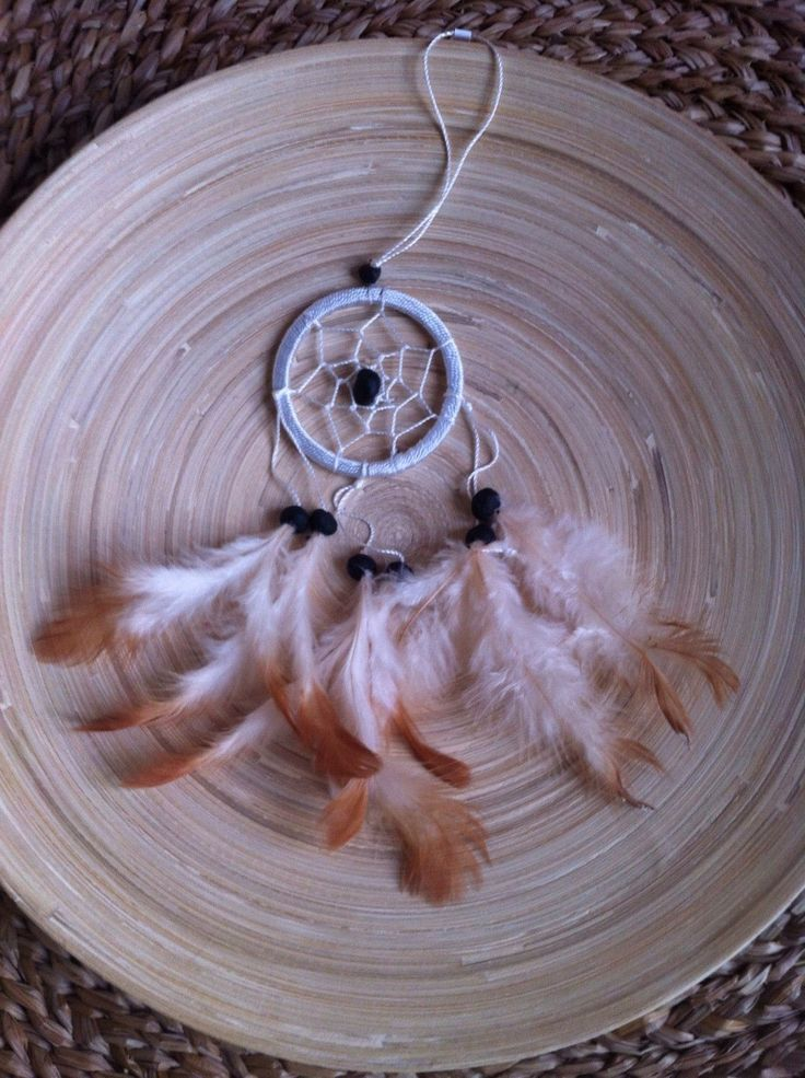 Dreamcatcher white Beige and Brown feather| Boho | Nursery Decor| Wall Hanging| Boho| Bedroom Decor| Hippie| by RootsShop108 on Etsy