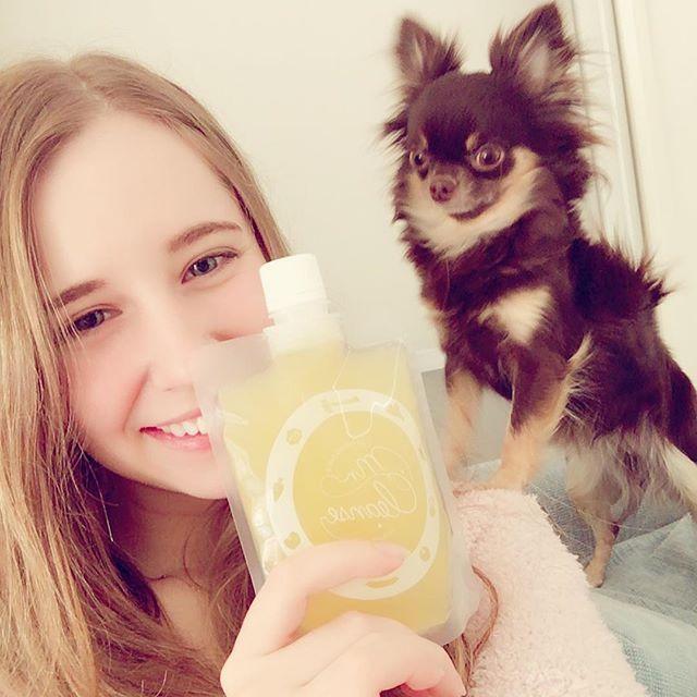 飲まないならわしにくれ! さすが ベジタリアンな犬🐶💗 4本目飲めない。 12本中3本しか飲めてない。 先は長い! ん?まてよ?  12本×200mlと別途水2ℓって #歩く水風船 な気持ちになりそう。  #コールドプレスジュース #ミスタークレンズ  #yellow #パプリカ #セロリ #キウイ #パイナップル #グレープフルーツ これは飲みやすい!!! だってビーツ入ってないからね😂 #どんだけ嫌いわかっていただけただろうか?  #ファッションモデル #ブライダルモデル #サロンモデル #外タレ #外国人タレント #フリーモデル #お仕事依頼受付中 #セルフネイル #ジェルネイル  #fashion  #model  #mylife  #russiangirl  #japan  #instagood  #instalike  #followme
