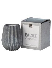 Salt&Pepper Facet Candle Pot, Vanilla product photo