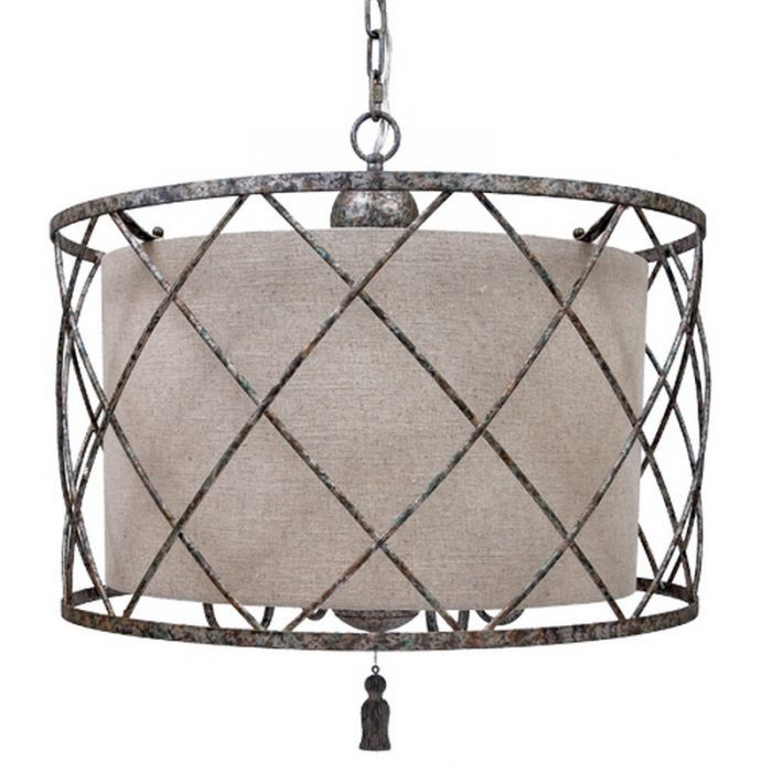 Old World Design C3500 Open Weave Chandelier And Large Linen Shade Drum Shade Chandelier Chandelier Shades Drum Chandelier Old world design lighting